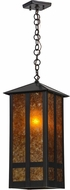 Meyda Tiffany 13950 Church Street Craftsman Amber MicA/Crft Pendant Lighting