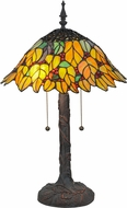 Meyda Tiffany 139603 Follaje Tiffany Mahogany Bronze Table Lamp Lighting