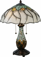 Meyda Tiffany 139604 Videira Florale Mahogany Bronze Table Top Lamp