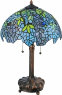 Meyda Tiffany 139606 Tiffany Wisteria Mahogany Bronze Table Lamp