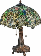 Meyda Tiffany 139607 Tiffany Laburnum Mahogany Bronze Table Light