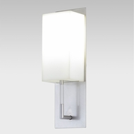 Meyda Tiffany 140296 Benchmark Modern Satin Nickel / Matte White Acrylic Fluorescent Wall Lighting