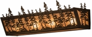 Meyda Tiffany 14200 Tall Pines Antique Copper / Silver Mica Bathroom Lighting