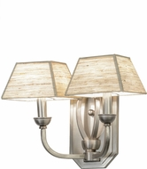 Meyda Tiffany 142263 Cesta Brushed Nickel Lighting Sconce