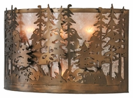 Meyda Tiffany 142346 Tall Pines Country Antique Copper Finish 13 Tall Wall Light Fixture