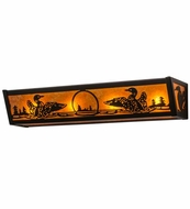 Meyda Tiffany 14254 Loon Black/Amber Mica Sconce Lighting