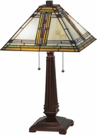 Meyda Tiffany 143149 Nevada Tiffany Mahogany Bronze Table Top Lamp