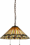 Meyda Tiffany 143461 Pueblo Garland Tiffany Mahogany Bronze Lighting Pendant