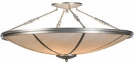 Meyda Tiffany 143628 Commerce Nickel / Alabaster Acrylic Flush Lighting