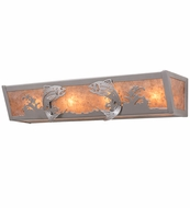Meyda Tiffany 14364 Catch of the Day Nickel/Silver Mica Lighting Sconce