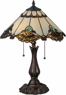 Meyda Tiffany 144058 Shell with Jewels Tiffany Mahogany Bronze Side Table Lamp