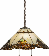 Meyda Tiffany 144059 Shell with Jewels Tiffany Mahogany Bronze Pendant Lamp
