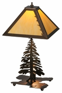 Meyda Tiffany 144445 Tall Pines Antique Copper Finish 16.5 Wide Lighting Table Lamp