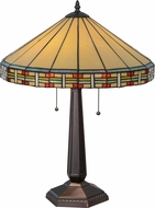 Meyda Tiffany 144960 Arizona Tiffany Mahogany Bronze Table Light