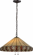 Meyda Tiffany 144964 Arizona Tiffany Mahogany Bronze Hanging Lamp