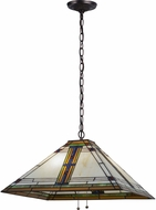 Meyda Tiffany 144965 Nevada Tiffany Mahogany Bronze Hanging Light
