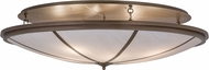 Meyda Tiffany 145837 Commerce Brown Metallic Flush Ceiling Light Fixture