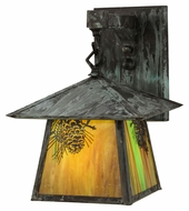 Meyda Tiffany 145947 Stillwater Winter Pine 11  Tall Exterior Wall Sconce