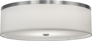 Meyda Tiffany 146116 Cilindro Brushed Nickel Fluorescent Flush Mount Ceiling Light Fixture