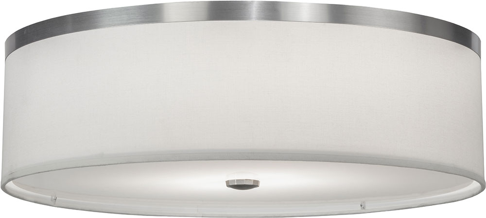 Captivating Meyda Tiffany 146116 Cilindro Brushed Nickel Fluorescent Flush Mount  Ceiling Light Fixture. Loading Zoom