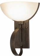Meyda Tiffany 146552 Erastos Gilded Tobacco / Ivory Acrylic Fluorescent Wall Lighting Sconce