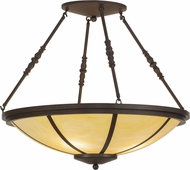 Meyda Tiffany 146575 Commerce Cafe Noir / Honey Onyx Acrylic Overhead Lighting Fixture