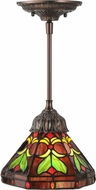Meyda Tiffany 146949 Middleton Tiffany Mahogany Bronze Pendant Light Fixture