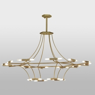 Meyda Tiffany 147882 ISON Contemporary Natural Brass Chandelier Lighting