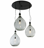 Meyda Tiffany 147909 41  Wide Euri Tanta 3 Lt Shower Vintage Multi Pendant Light