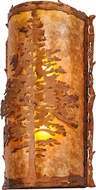 Meyda Tiffany 148381 Tamarack Rustic Vintage Copper / Amber Mica Wall Light Fixture