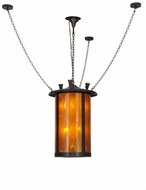Meyda Tiffany 148852 Fulton Prime Craftsman Brown Honey Opal Frosted Insid Lighting Pendant