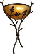 Meyda Tiffany 148948 Oak Branch Rustic Copper Vein / New Mica Acrylic Sb In Wall Sconce Light
