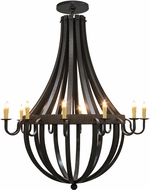 Meyda Tiffany 149172 Barrel Stave Metallo Contemporary Timeless Bronze Ceiling Chandelier