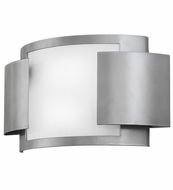 Meyda Tiffany 149287 Vista Contemporary Nickel/White Acrylic Fluorescent Lighting Wall Sconce