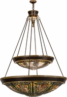 Meyda Tiffany 149312 Fleur-de-lis Tiffany Copper Vein Hanging Pendant Light