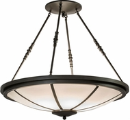 Meyda Tiffany 149546 Commerce Timeless Bronze Ceiling Pendant Light