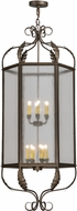 Meyda Tiffany 150194 Calida Tyler Bronze / Clear Seedy Acrylic Foyer Light Fixture