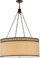 Meyda Tiffany 150293 Cilindro Circle X Timeless Bronze Pendant Lamp