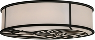 Meyda Tiffany 150464 Nautilus Black / White Acrylic Overhead Lighting Fixture