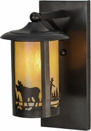 Meyda Tiffany 150579 Fulton Moose Creek Rustic Bai Craftsman Wall Sconce Lighting