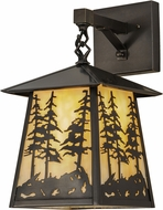 Meyda Tiffany 150687 Stillwater Tall Pines Country Beige Craftsman Wall Lighting