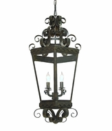 Meyda Tiffany 150718 Antique Iron Gate / Cs Glass Foyer Lighting