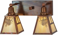 Meyda Tiffany 150764 Winter Pine Rustic Bai Vintage 2-Light Bath Sconce