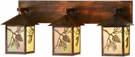 Meyda Tiffany 150774 Balsam Pine Country Bai Vintage Copper 3-Light Vanity Light Fixture