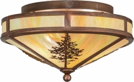 Meyda Tiffany 150786 Tamarack Rustic Bai Vintage Copper Ceiling Light Fixture