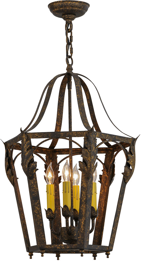 Gold Foyer Lighting : Meyda tiffany acacia country old gold foyer light