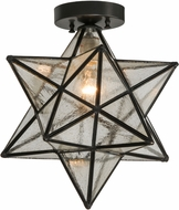Meyda Tiffany 150958 Moravian Star Clear Seedy Contemporary Ceiling Light Fixture