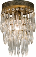 Meyda Tiffany 151126 Finnimore Crystal Antique Brass Overhead Lighting