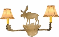 Meyda Tiffany 151163 Moose Rustic Antique Copper Wall Light Sconce
