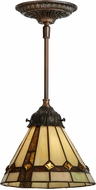 Meyda Tiffany 151292 Belvidere Tiffany Mahogany Bronze Pendant Lighting Fixture